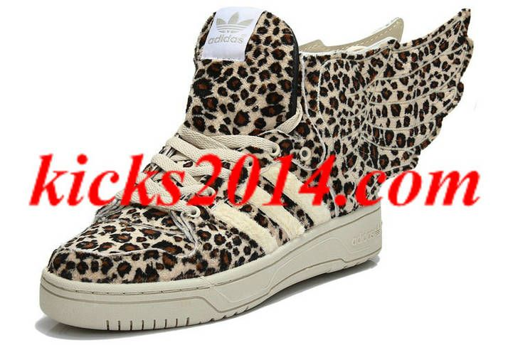 half off d4421 23e4b Charming Mens Adidas Jeremy Scott Wings 2.0 Leopard