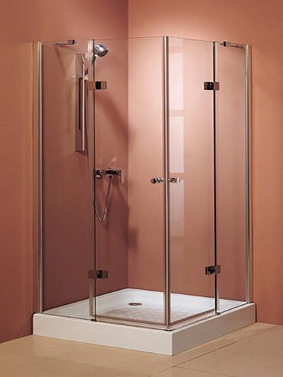 Frameless 32 x 32 Glass Shower Enclosure Square with Shower Tray ...