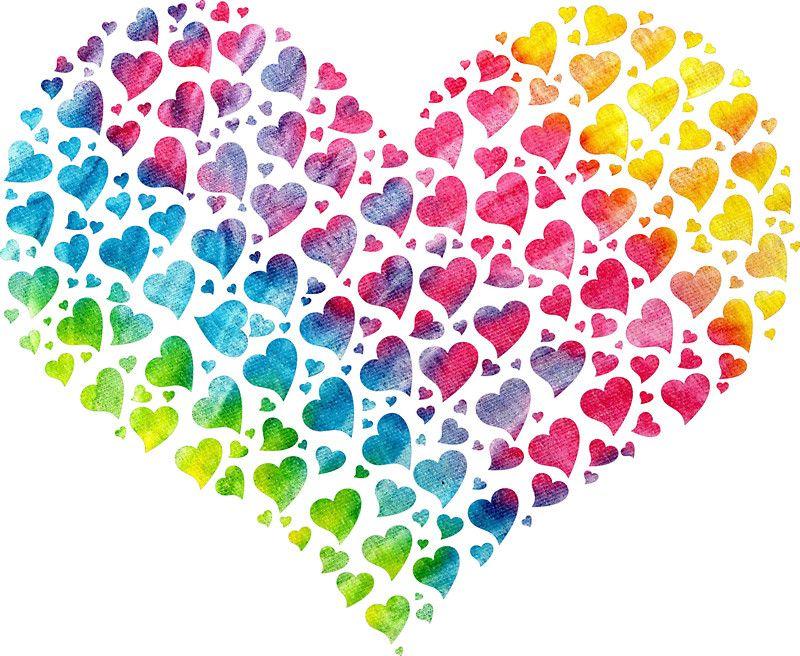 Tie Dye Heart Hippie Love Rainbow Coloured Sticker By Imagemonkey In 2021 Valentine Heart Images Valentine Heart Clip Art