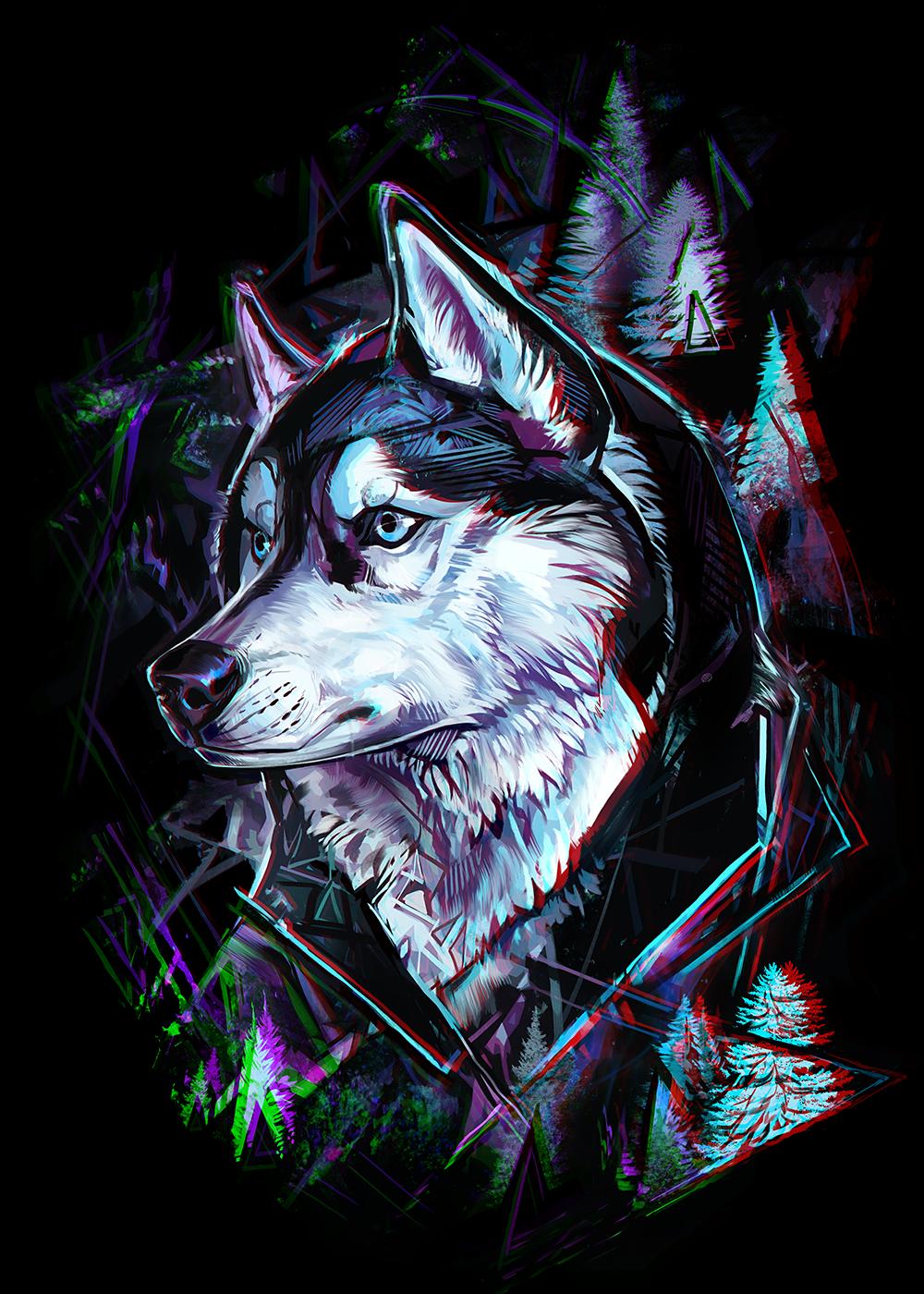 Épinglé par Jackie Llamazales sur Wolves   Loup dessin