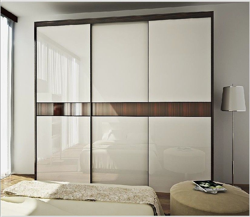 Modern wardrobe design laminate wardrobe designs small for Back painted glass designs for wardrobe