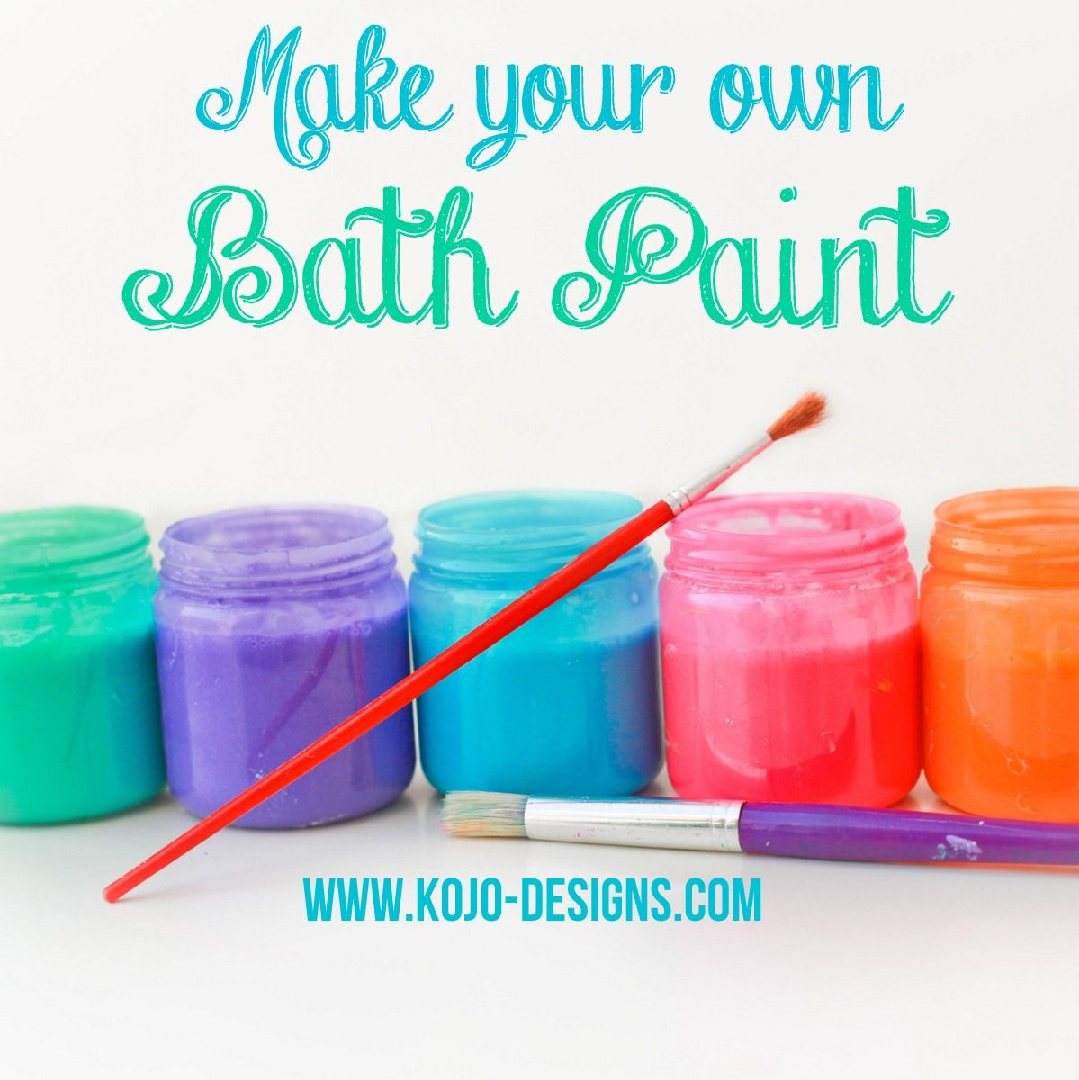 Love The Colors! // Make Your Own Bath Paint By Kojodesigns
