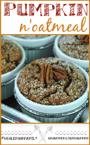 We are bringing on fall with this grain-free, gluten-free, dairy-free, and refined sugar-free Baked Pumpkin N'Oatmeal! This whole food, clean eating, and Paleo breakfast is warm, comforting and delicious! You will love this easy and healthy breakfast or brunch recipe that resembles a typical baked oatmeal, yet has a bread pudding like texture.