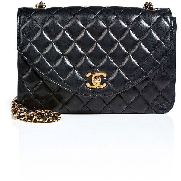 dee6be69b7ff9d CHANEL VINTAGE JEWELRY Quilted Leather Round Flap Bag in Black ...