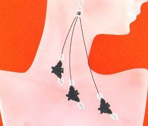 Flying Bat Earrings | AllFreeJewelryMaking.com