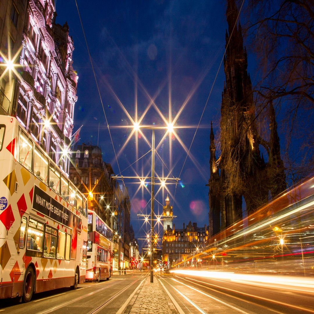 Light Shop In Edinburgh: Princes Street, Edinburgh Scotland. Lighting Design By