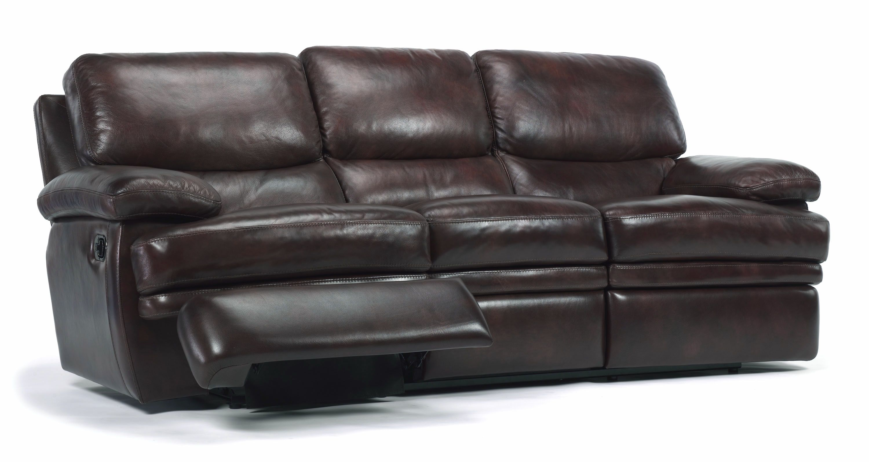 Double Reclining Leather Sofa Sure Fit Twill Supreme 2 Piece Slipcover White Flexsteel Latitudes Dylan