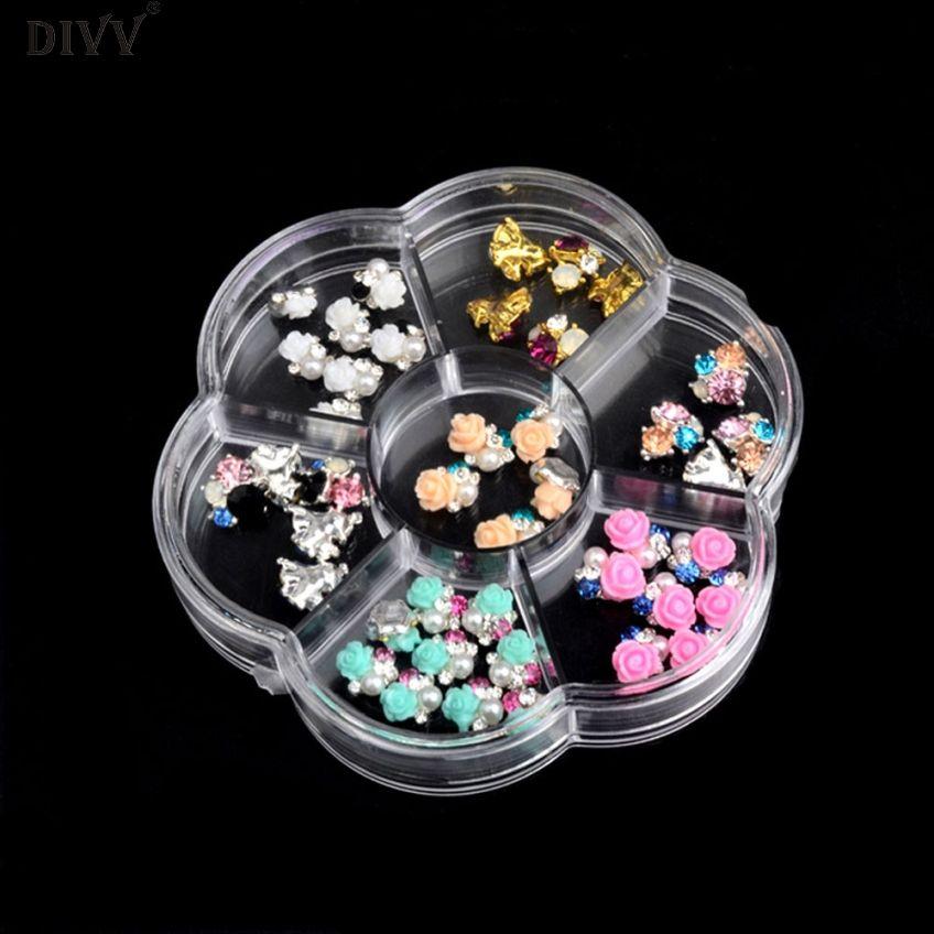 DIVV Creative 10cm Plastic 7 Slots Adjustable Jewelry ...