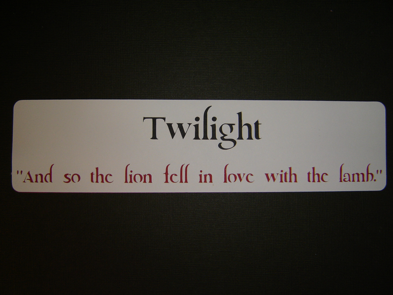 "Twilight Quote ""And So The Lion Fell In Love With The Lamb"""