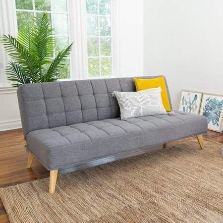 Awesome Devon Claire Miles Tufted Fabric Convertible Sofa Futon Evergreenethics Interior Chair Design Evergreenethicsorg