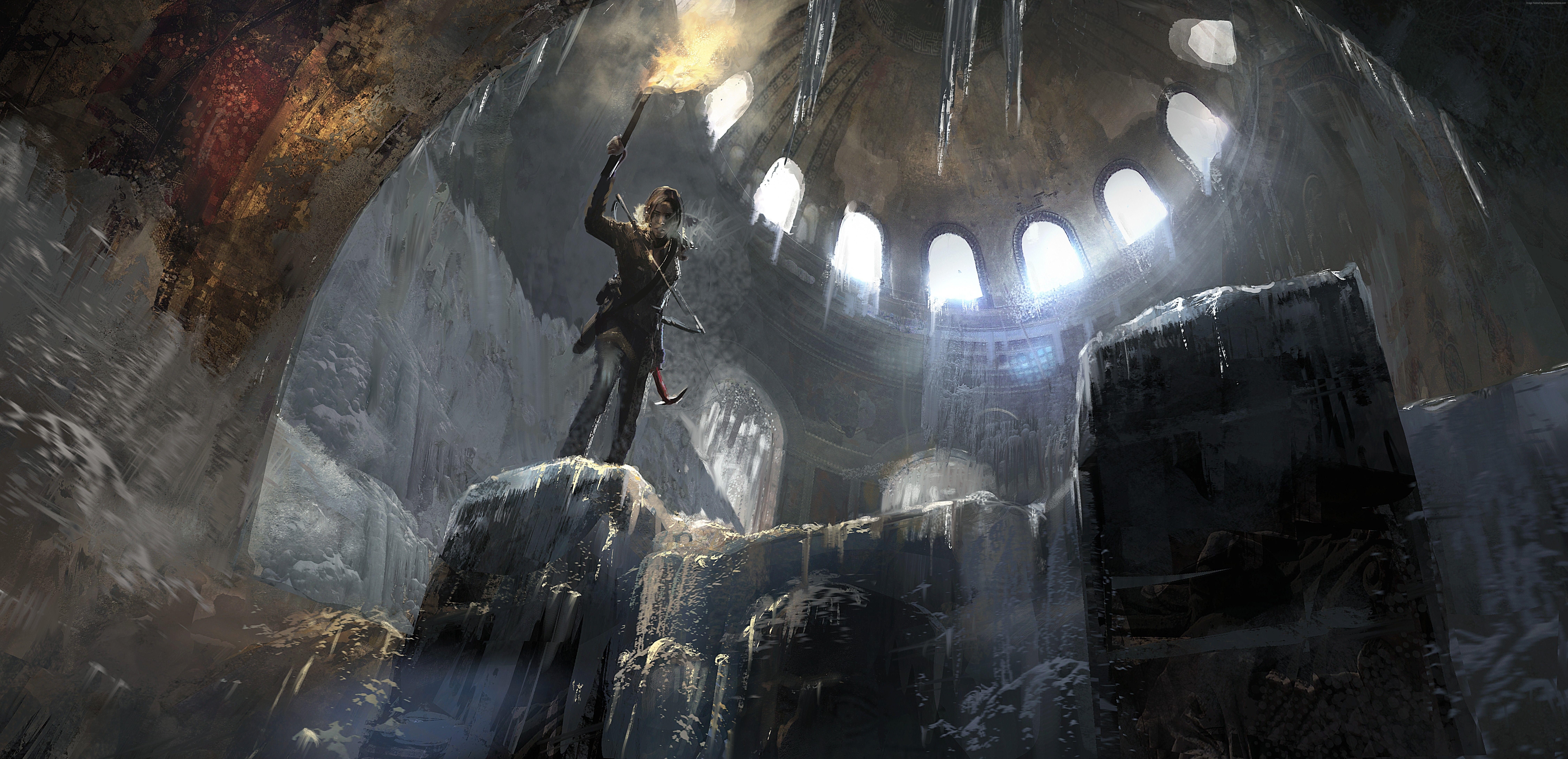 Wallpaper Rise Of The Tomb Raider K K Wallpaper K Game Bow Lara