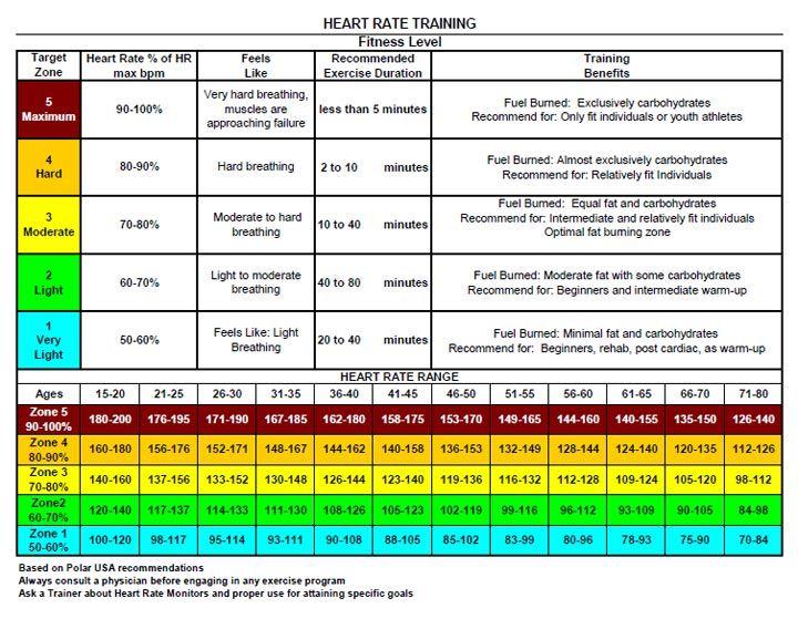 fat burning bpm chart Work it girl! Pinterest Fat - rate chart