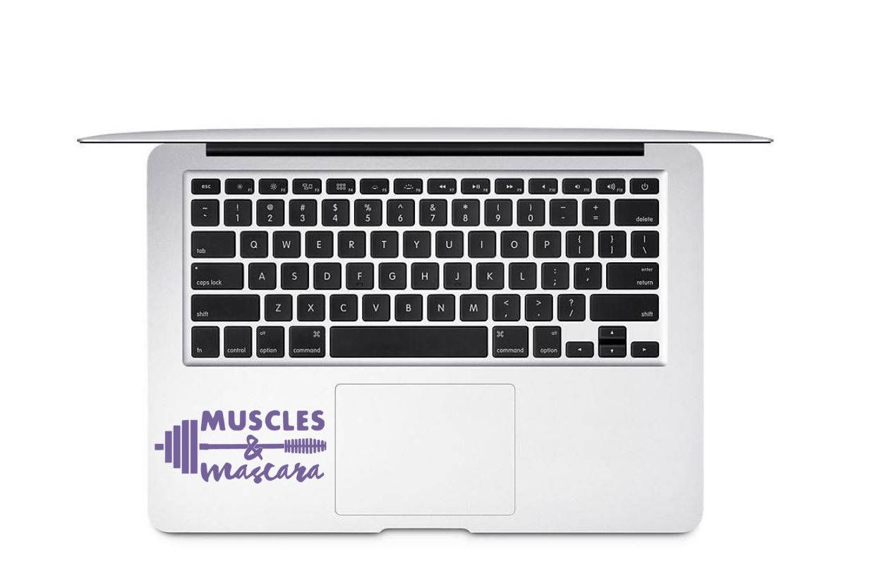 Muscles And Mascara Decal Fitness Car Decal Work Out Decal Etsy Stethoscope Decal Nurse Decals Laptop Decal [ 796 x 1260 Pixel ]