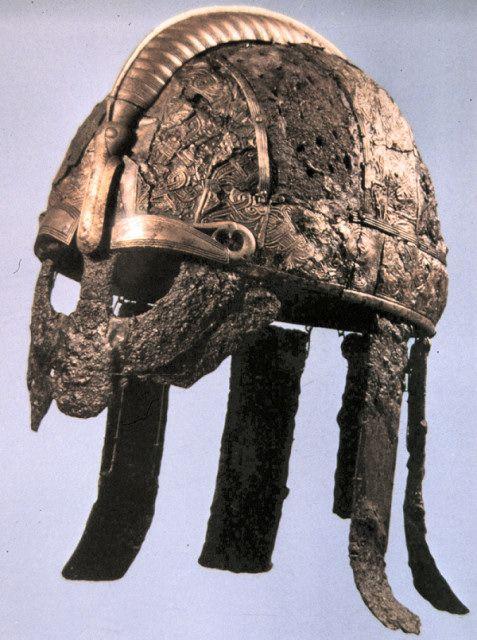 viking helmet from valsg228rde cemetery sweden