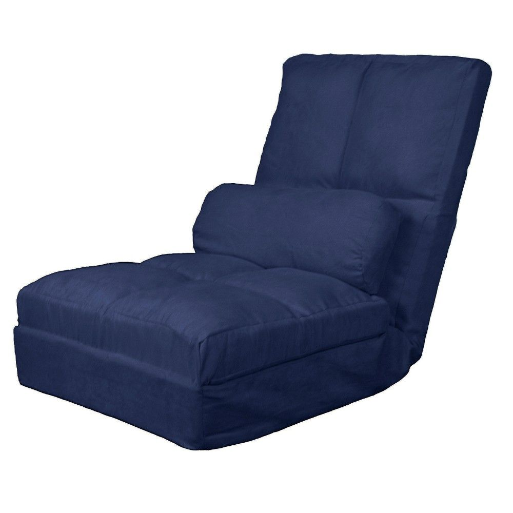 Child Size Leather Sofa Le Corbusier Lc5 Bed Metro Click Clack Convertible Flip Chair Sleeper Dark Blue Sit N Sleep