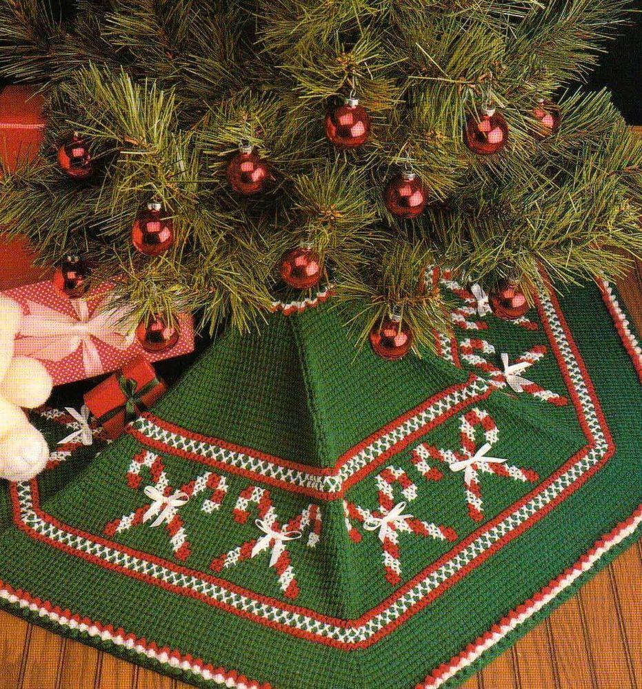 Easy Crochet Christmas Tree Skirt: TREE SKIRTS CROCHET PATTERN FROM VANNA'S CROCHET FAVORITES