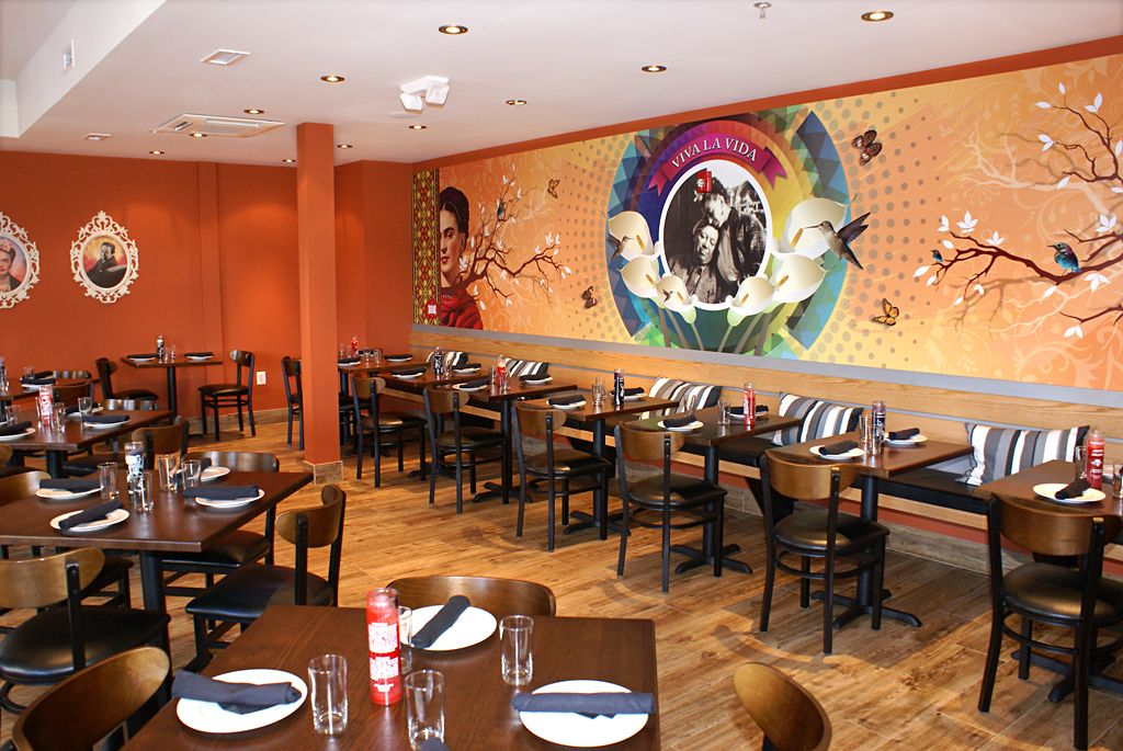 Wall Murals From The New Restaurant Diego On 14th St Nw Dc
