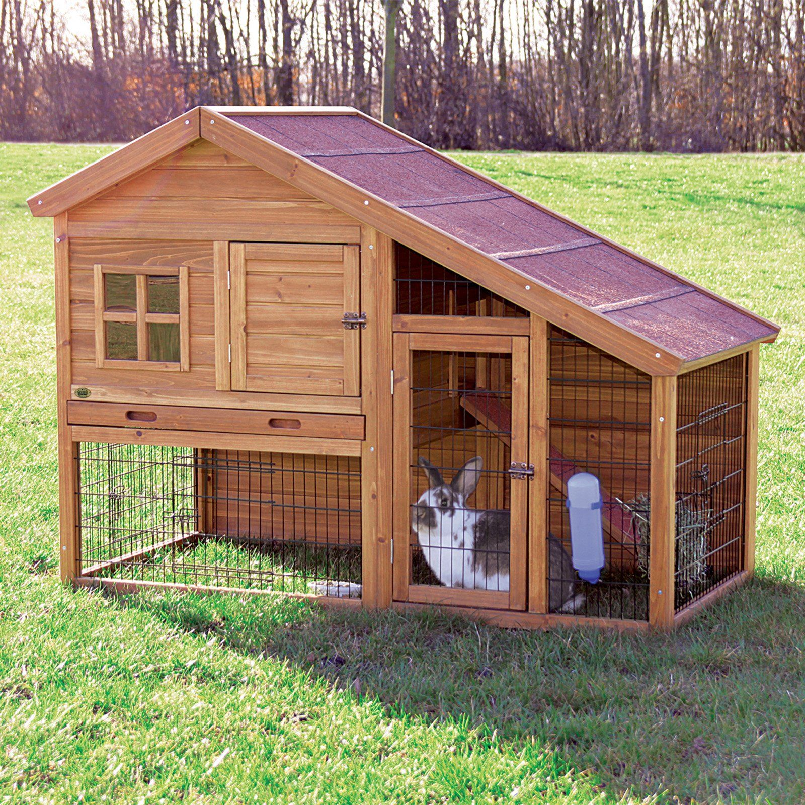 Have to have it trixie natura rabbit hutch with outdoor for Outdoor rabbit enclosure ideas