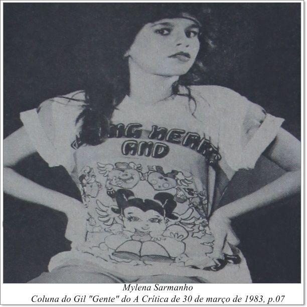 """Mylena Sarmanho. Coluna do Gil """"Gente"""" do A Crítica de 30 de março de 1983."""