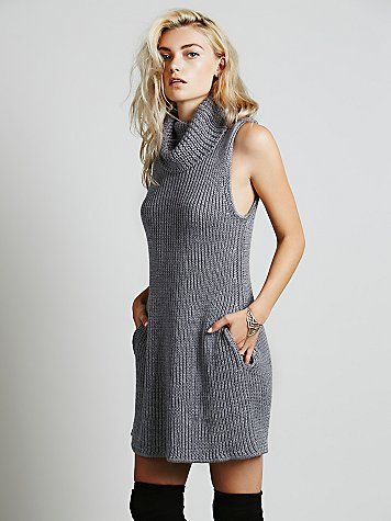 Vertical Sweater Dress | Super soft and chunky sleeveless sweater ...