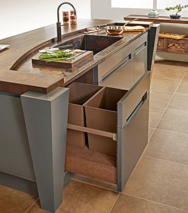 Terrific Hide Trash Can In Kitchen Contemporary