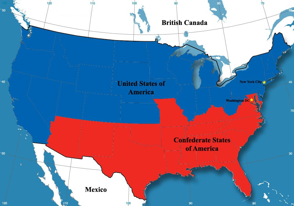 NationStates View Topic Nd American Civil War MTICOPEN - The confederate map of the us