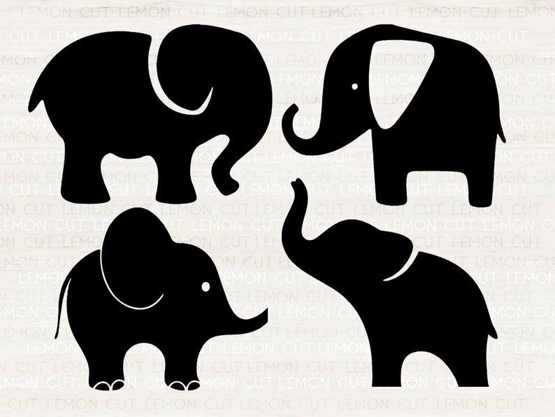 Elephants Svg Elephant Svg Eps Dxf Png Cutfiles For Cricut Silhouette Cameo Elephant Silhouette Baby Elephant Elephant Mom Silhouette Elephant Silhouette Svg Dxf