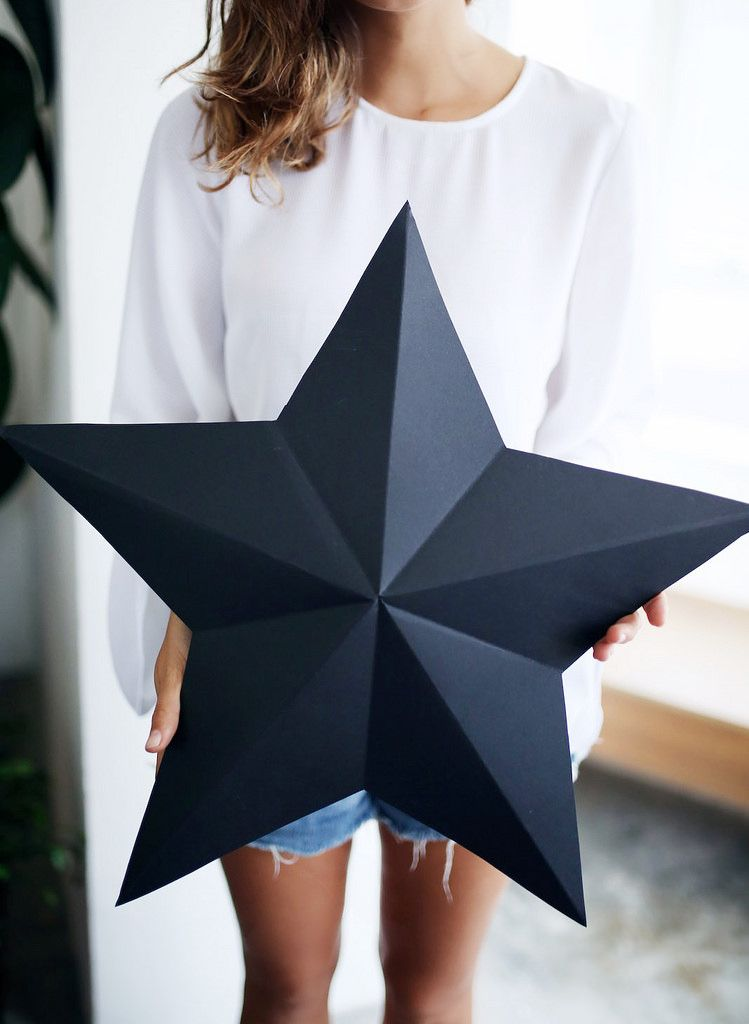 diy 3d star decorations can be used to wrap your presents