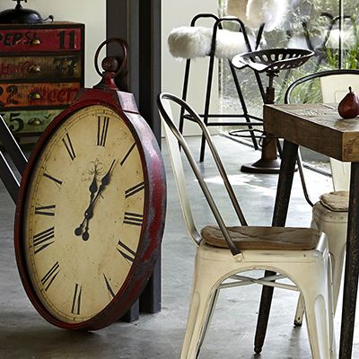 Oval Wall Clock Red Clocks Accessories Inspiring Home