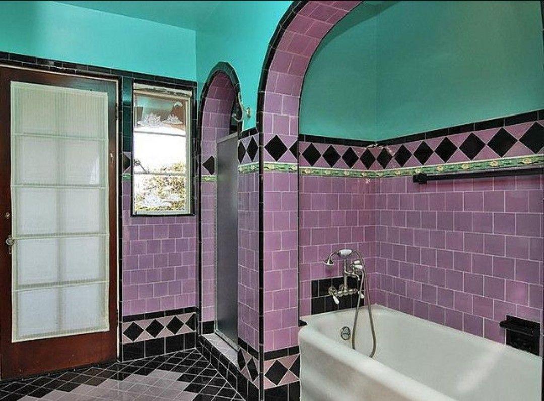 Art Deco Bad 12er Jahre  Vintage badezimmer, Deko interieur