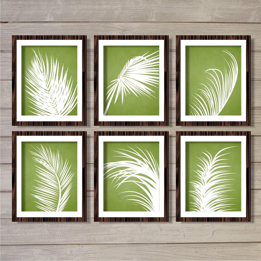 Palm Leaves Wall Art Printable