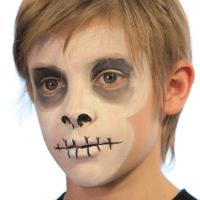 easy skull face paint video tutorialkiki  skull face