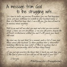 A message of hope to a struggling wife Phillipians 4:4-9 ...