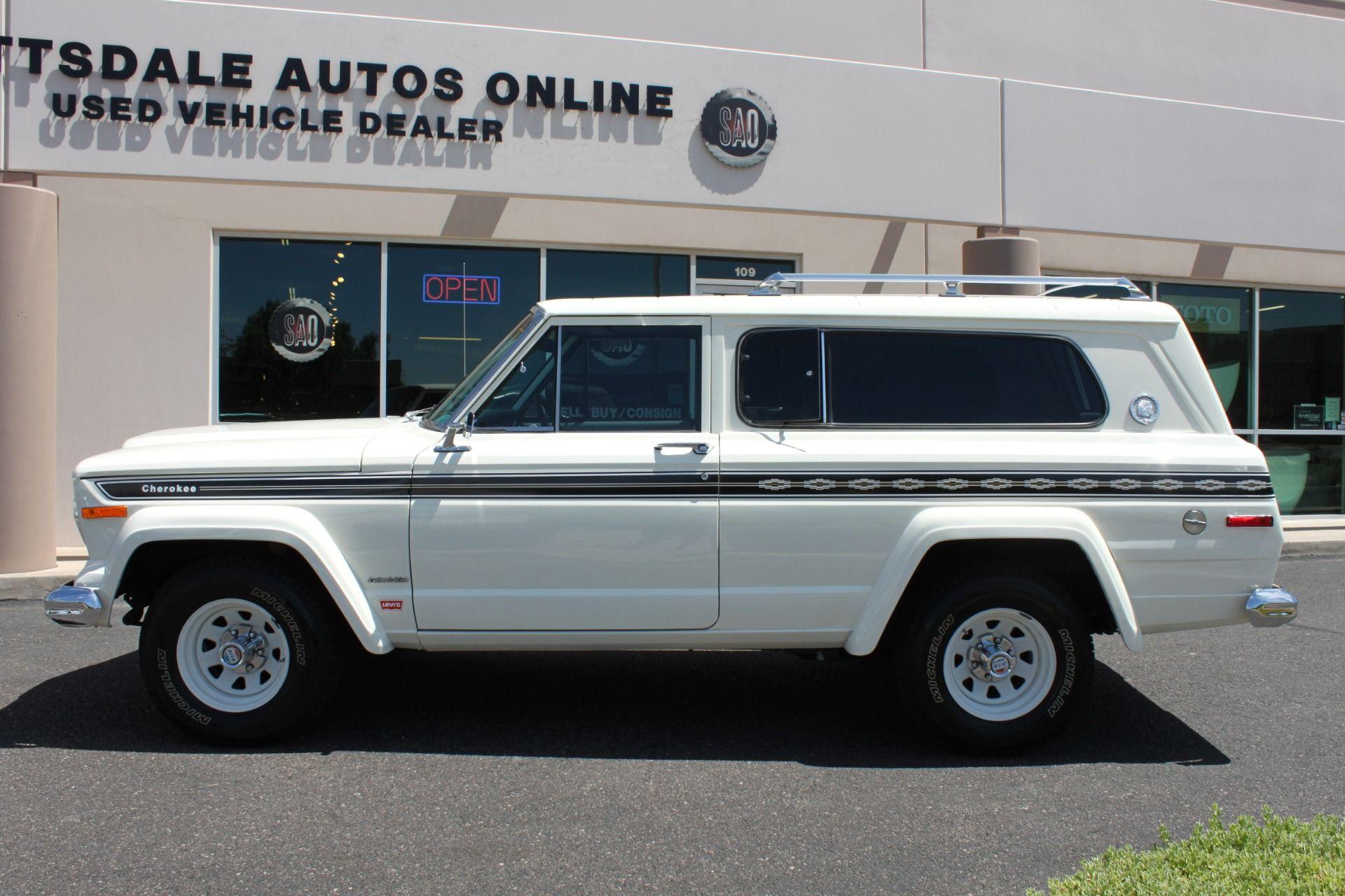 1977 Jeep Cherokee S Widetrack 4x4 401 V8 Stock P1236 For Sale Near Scottsdale Az Az Jeep Dealer With Images Jeep Cherokee Jeep Dealer Jeep