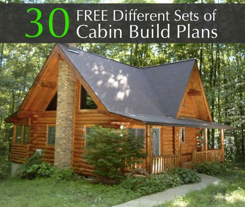 Free 30 different sets of cabin build plans http for Free online log cabin floor plans