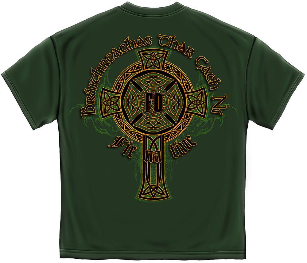 Ireland Fire /& Rescue Firefighter Irish T-shirt  3XL