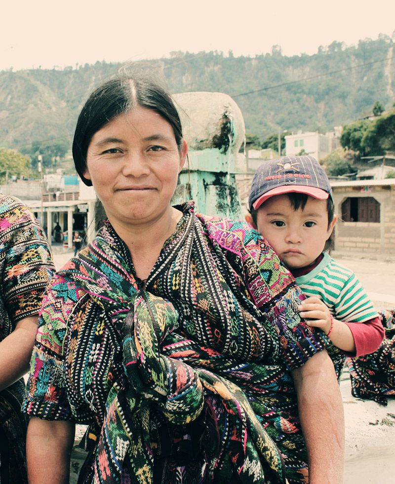 A Guatemalan Mom Uses A Wrap To Carry Her Son Babywrap
