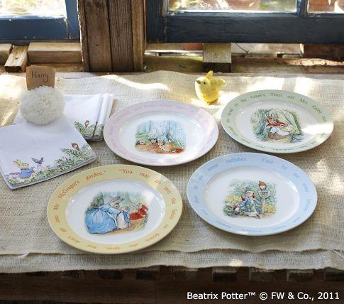 Beatrix Potter Peter Rabbit Ceramic Plate Set From Pbk