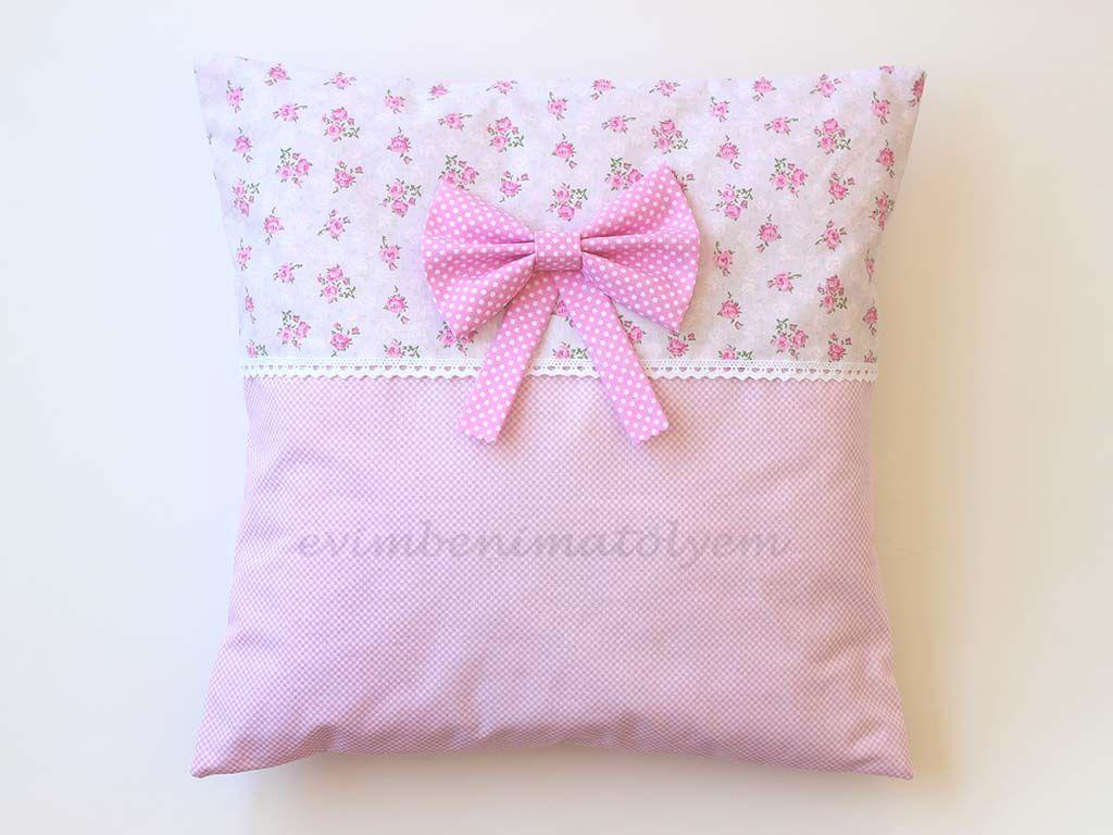 dantelli-fiyonklu-yastik   sachet   Pinterest   Bow pillows