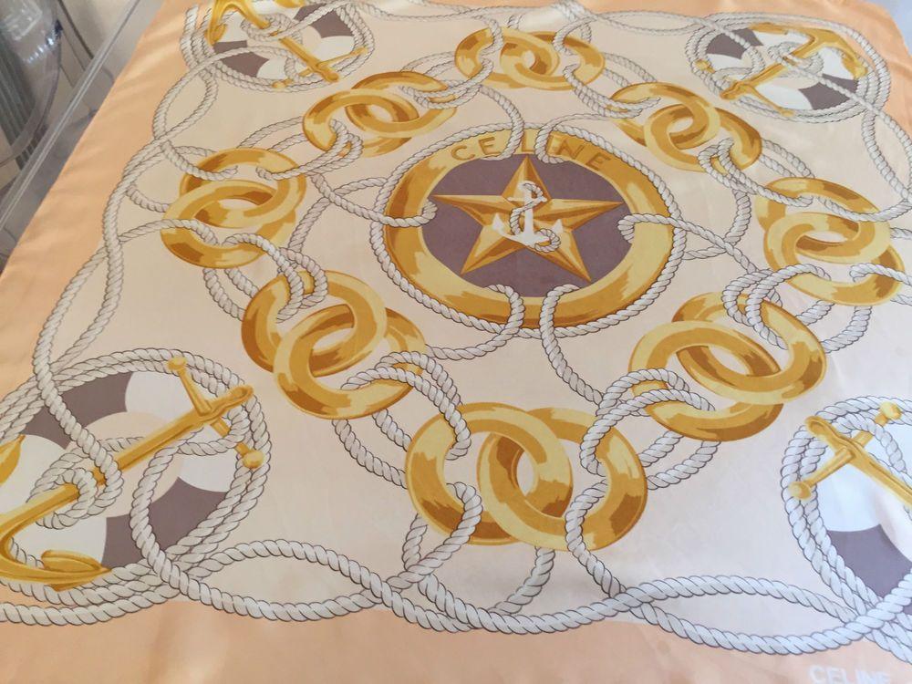 19fe3b608592 Foulard scarf Celine silk soie seta seda seida 100 %   foulard en ...