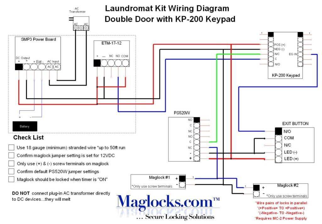 Magnetic Door Lock Wiring Diagram Wiring Diagrams Click