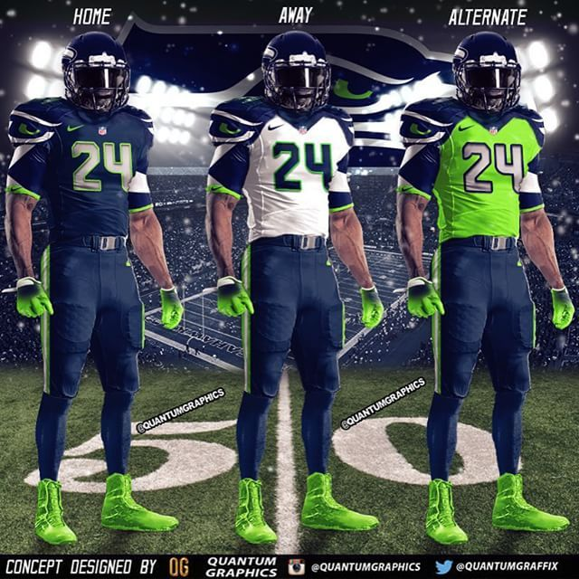 75cb3c09 Set of my Seattle Seahawks Uniform Concepts!! This is probably one of my…