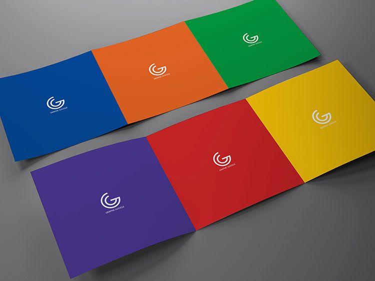 Three Pages Tri Fold Brochure Mockup Mockups Psd Templates For
