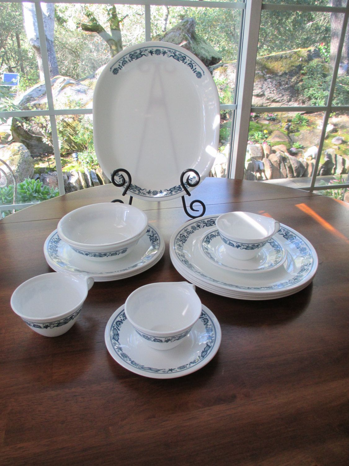 Vintage Corelle Old Town Blue Dinnerware Set by aprilleialoha $25.00 & Vintage Corelle Old Town Blue Dinnerware Set by aprilleialoha ...