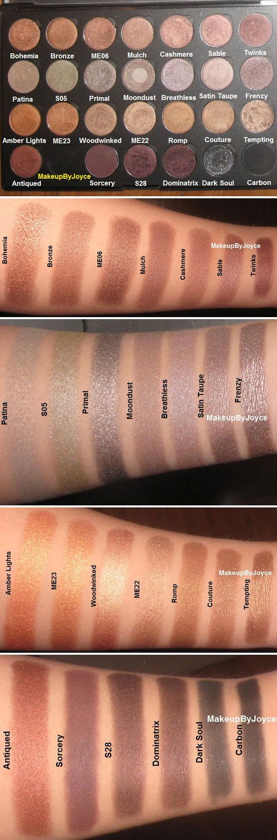 Collection and Swatches Browns Palette Makeup obsession
