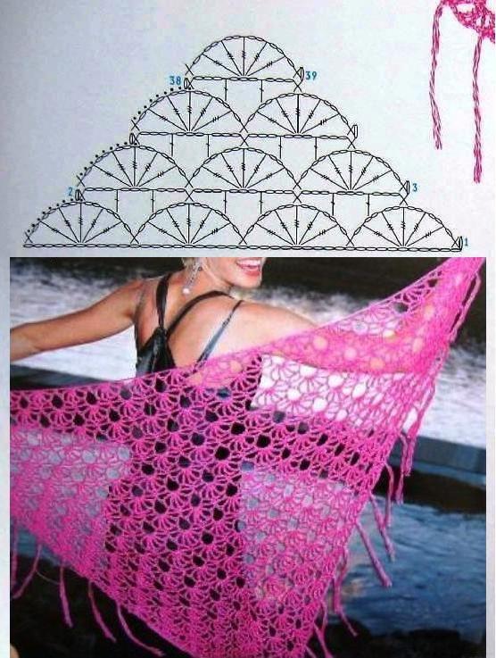 Crochet | crochet | Pinterest | Chal, Pareos y Tejido