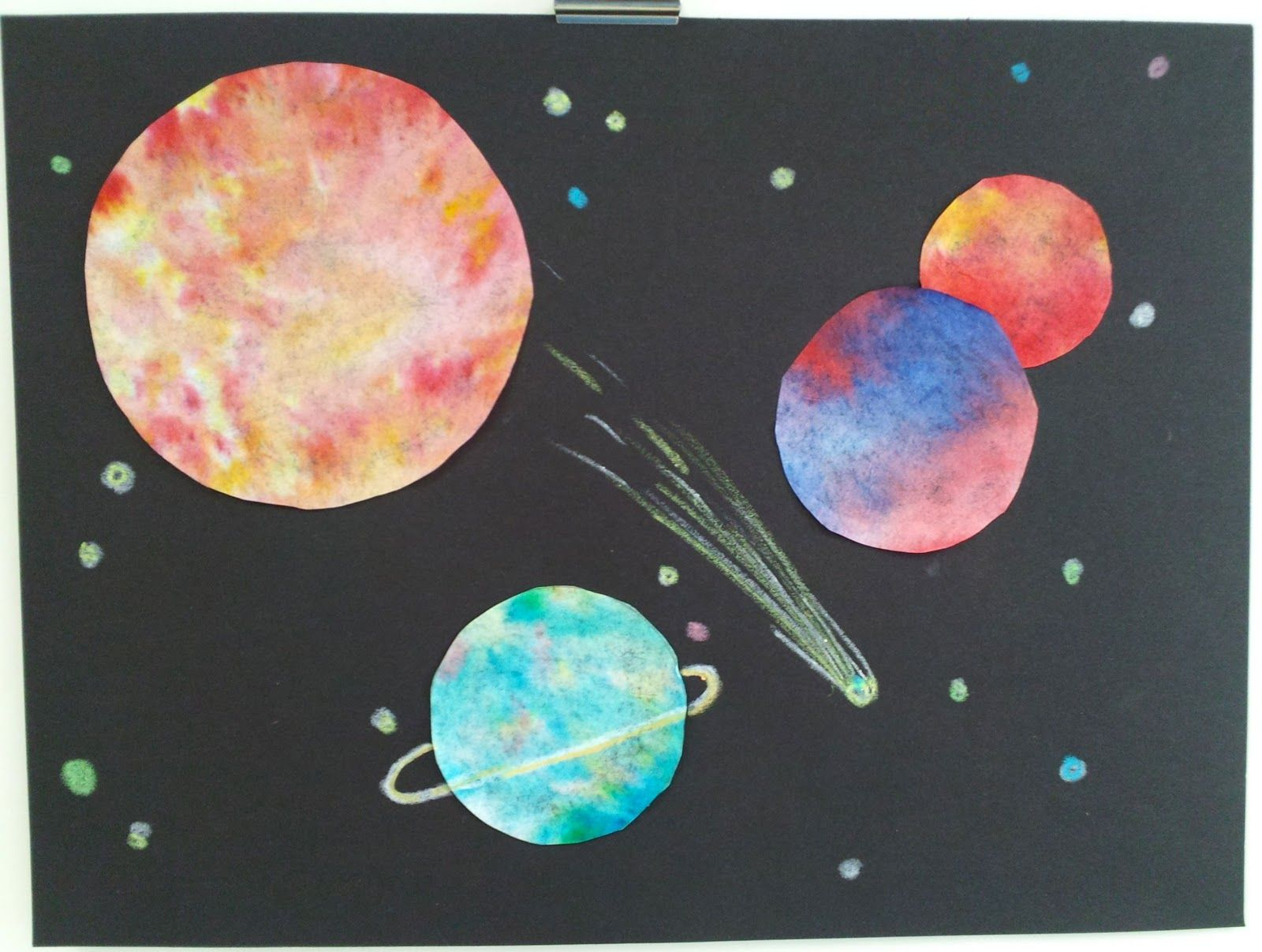Art With Ms Gram 1st Grade Outer Space Art Primary