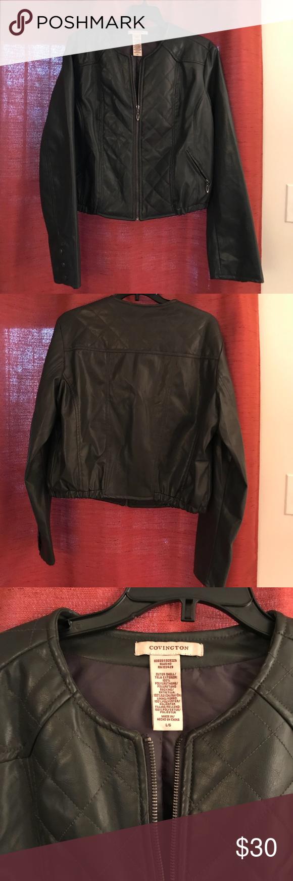 Women S Sz L Faux Leather Jacket Faux Leather Jackets Faux Leather Jacket Women Leather Jacket [ 1740 x 580 Pixel ]