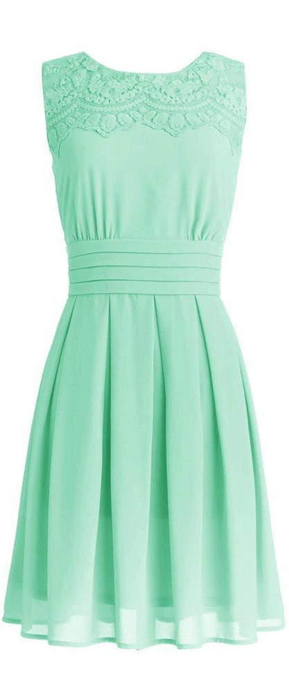 Stylish Mint Dress for Summer Cute mint dress with a sleeveless ...