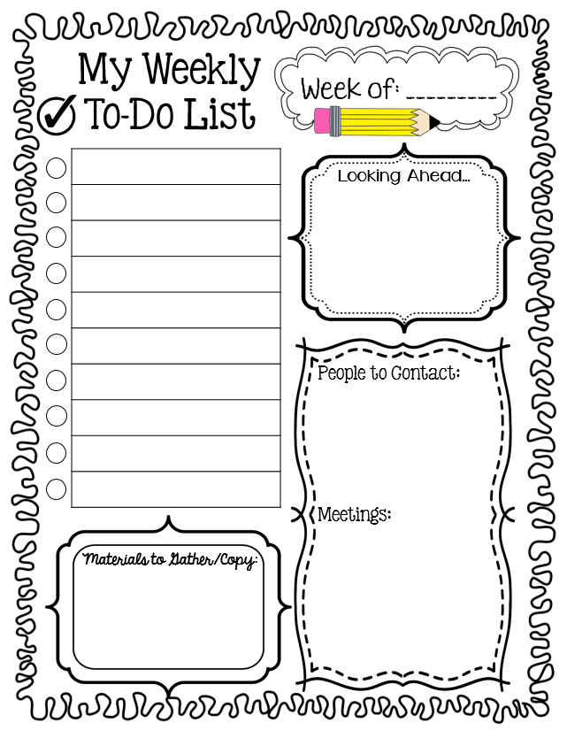Grab This Free Weekly To Do List And Enter A 100th Post Giveaway Live Love Math Classroom Organisation Teacher Planning Teacher Organization